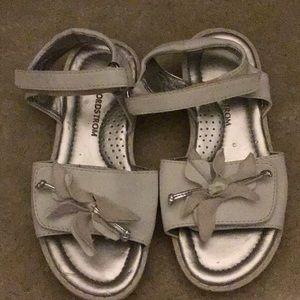 Beautiful white girls sandals